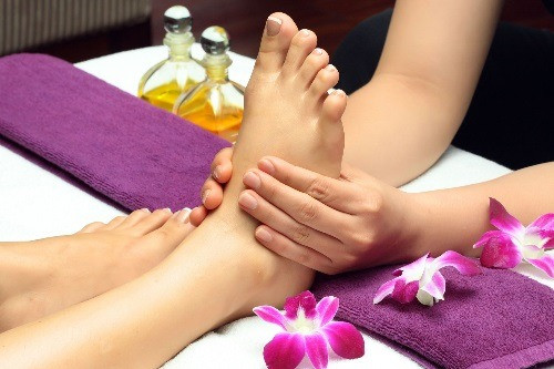 Getting a Foot Massage in a Spa