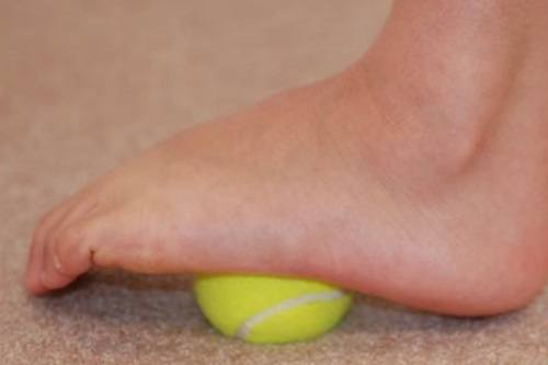 Tennis Ball Foot Excercise