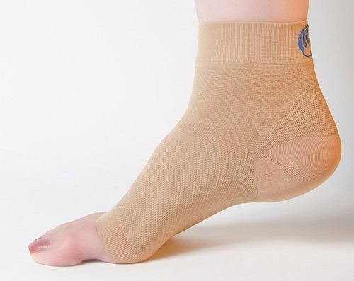 Wearing compression foot sleeve