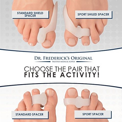 Dr. Frederick's Original 14 Piece Bunion Pad & Spacer Kit Spacer Types