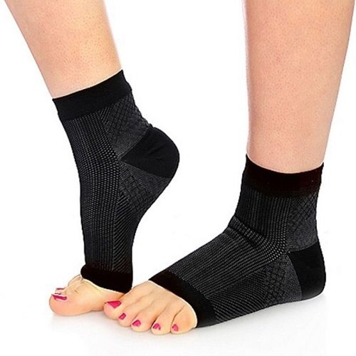 Wearing Foot Sleeves