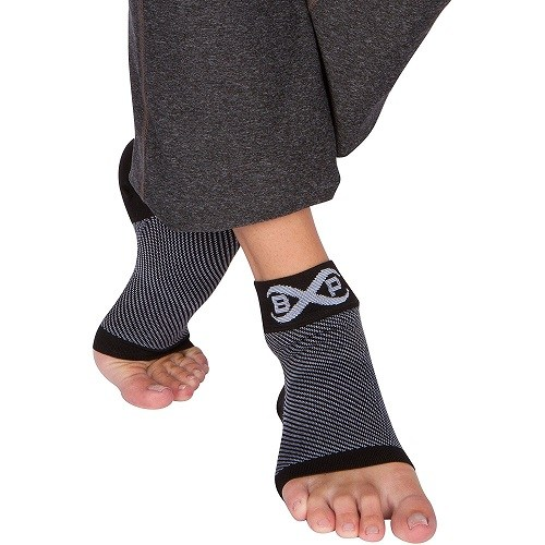 wearing Premium Ankle Support Foot Compression Sleeves