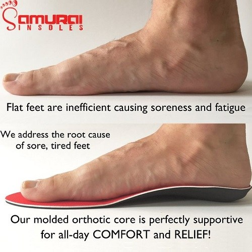 Orthotics For Flat Feet by Samurai Insoles Under Foot