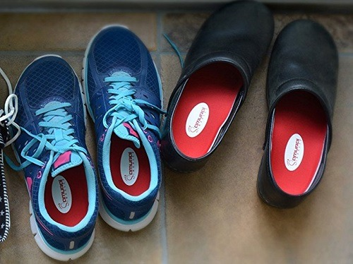 Orthotics For Flat Feet by Samurai Insoles in shoes