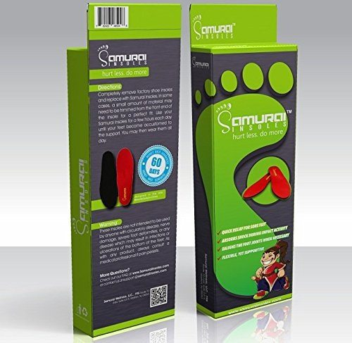 Orthotics For Flat Feet by Samurai Insoles package