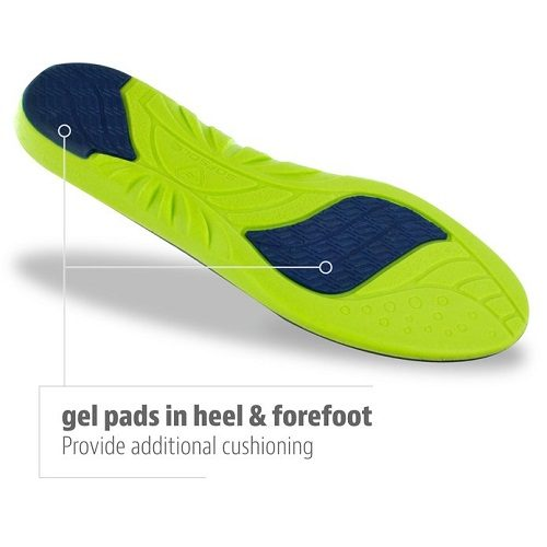 Sof Sole Athlete Full Length Comfort Neutral Arch Replacement Shoe Insole/Insert Gel